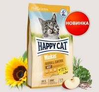 Сухой корм для кошек Happy Cat Minkas Hairball Control Geflugel 30/12  10 кг - фото