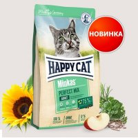 Сухой корм для кошек Happy Cat Minkas Perfect Mix Geflugel, Fisch  Lamm 30/12  10 кг - фото